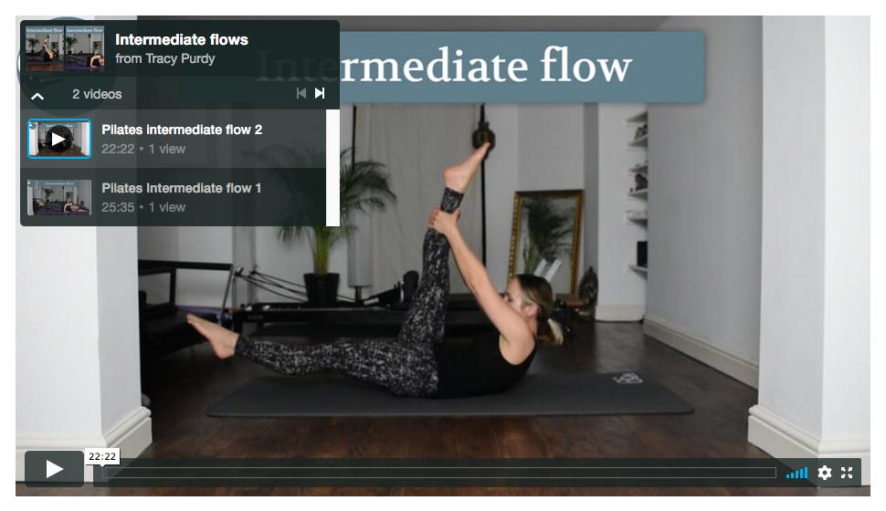 Intermediate Pilates flows
