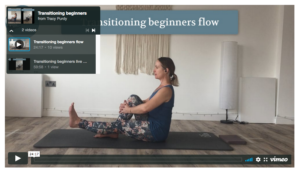 Transitioning beginners